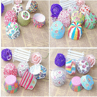 100pcs Paper Cake Cup Liners Baking Cupcake Wedding Party Muffin Cases Holder