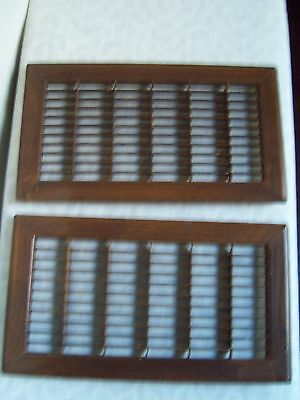 Vintage Metal Heat AC Vent Register Covers Grates 2