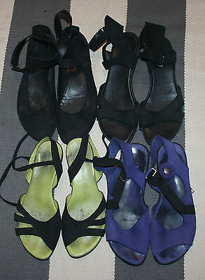 Lot of 4 Arche Leather French & Gladiator Strap Sandals & Shoes Size 39