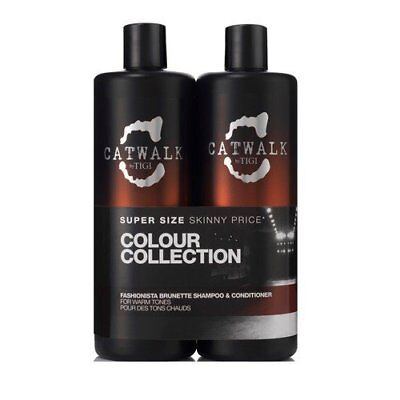Tigi Catwalk Fashionista Brunette Tweens Shampoo 750ml+Conditioner 750ml Doppel