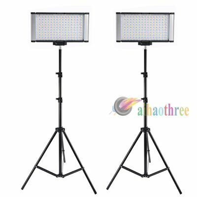 2Pcs VILTROX LED-160S Bi-Color Dimmable Studio LED Video Light + Light Stand【AU】