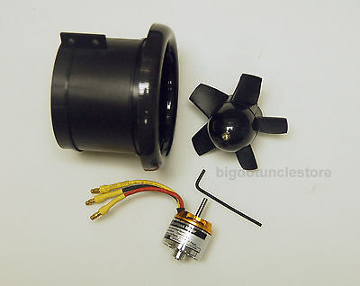 265m: 68mm Electric Ducted Fan(EDF) w/ BL motor(KV3850) for RC Warbird/Military