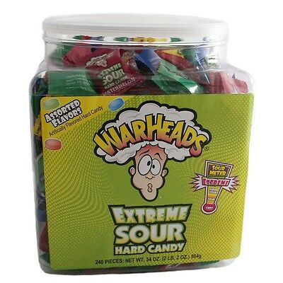 Warheads Extreme Sour Hard Candy Tub 240 Pieces 744g