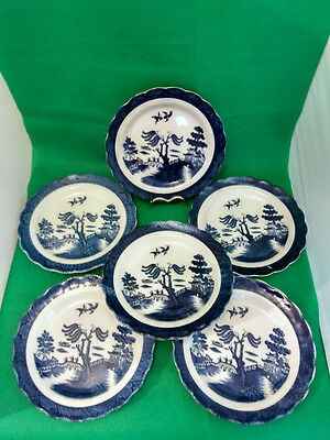 Booths Real Old Willow Dinner Plates x 6