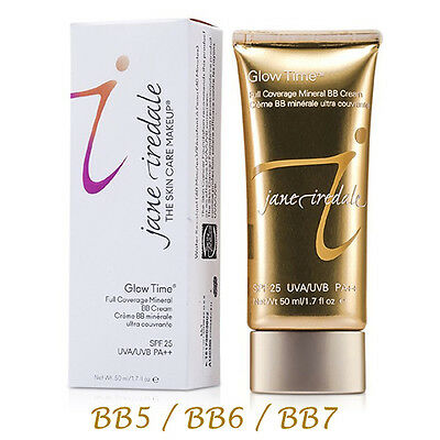 Jane Iredale Glow Time Full Coverage Mineral BB Cream SPF 25 - Full Size 50ml