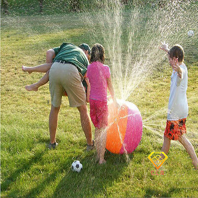 Inflatable Water Ball Outdoor Kids Water Ball Toy Beach Ball Sprinkler Fun Ball