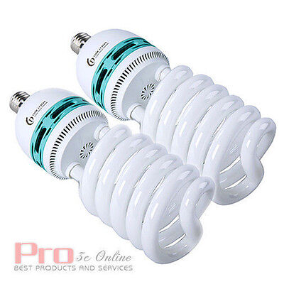 2x105W Studio Photo Fluorescent Daylight 5400K E27 Light Lamp Bulb for Lighting