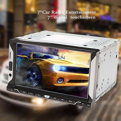 7'' Double 2DIN Car MP5 Player Bluetooth Digital HD Touch Screen Stereo FM Radio