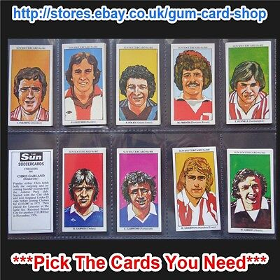 ☆ The Sun Soccercards 1978-79 (VG) (Card 801 to 900) *Please Choose Cards*