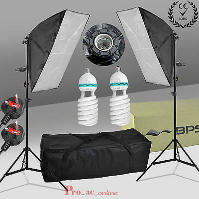 1250W Soft Box Continuous Lighting Photography Studio Softbox Light Stand Kit