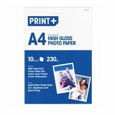10 Sheets A4 Heavy 230 Gsm  Glossy Digital Laser Printer Photo Paper High Gloss