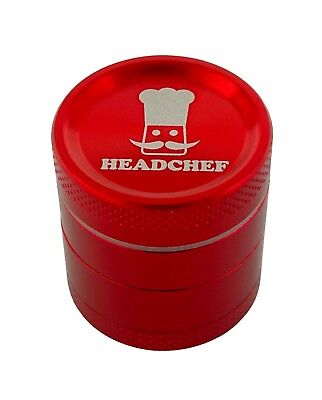 Headchef 30mm 4 piece grinder Red