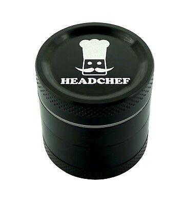 Headchef 30mm 4 piece grinder Black