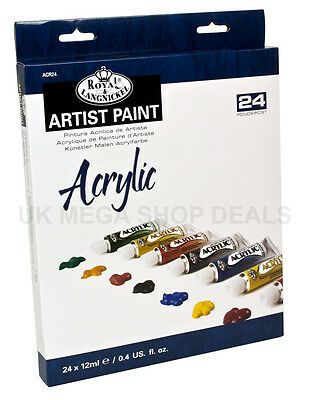 Royal & Langnickel Artist Paint 24 x 12ml Set Acrylic Assorted Colours
