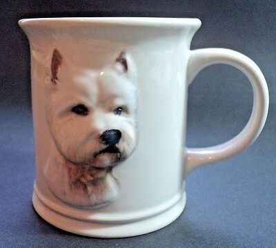 Westie West Highland Terrier Coffee Mug By Xpres Barbara Augello White 3D Face