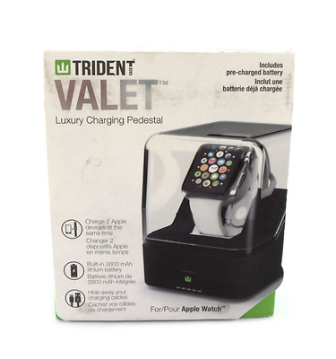 Trident Valet Luxury Charging Pedestal for Apple Watch Cognac OD-APWATC-CGVAL