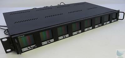 """Marshall V-R18P Rack Monitor W/ 8x 1.8"""" LCD Screens BNC In / Out WORKING"""