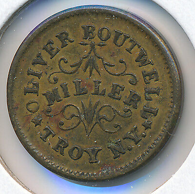 USA Civil War Token 1863 Oliver Boutwell Troy, NY