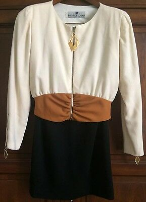 Vintage Pierre Balmain, Two piece Women's Day/ Evening suit, Sz 6
