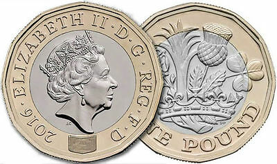 Royal Mint New 12 Sided £1 Coin *Dated 2016* UNCIRCULATED  Released 28/03/17
