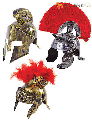 Roman Warrior Helmet Adults Centurion Fancy Dress Spartan Costume Accessory