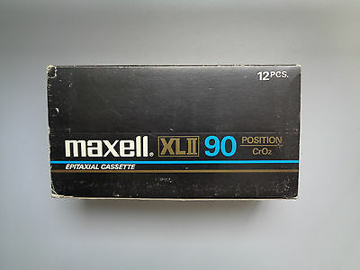 12 Vintage Audio Cassette MAXELL XLII 90 * Rare From 1982 * + Original Box