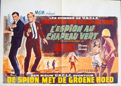 MAN FROM UNCLE THE SPY IN THE GREEN HAT Belgian movie poster ROBERT VAUGHN