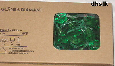 IKEA GLÄNSA DIAMANT Glansa 48 Diamonds LIGHTS Green Clear 0r Purple LED