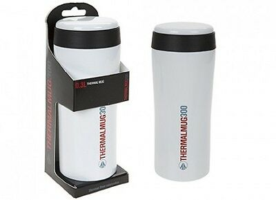 Summit Insulated Thermal Travel Coffee Mug Flask Stainless Steel Leakproof White