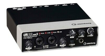 Steinberg UR22mkII 2x2 USB 2.0 Audio Interface with Preamp w/ Cubase AI/LE