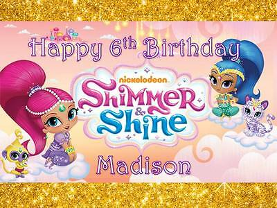 Shimmer & Shine A4 Edible Cake Topper on Wafer Card/Icing Personalised