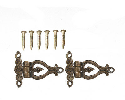 Antique Style Hinges ( Style 3 ) Dolls House Miniature Door Hinges 1.12 Scale