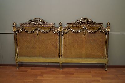 Custom Palace Sized King Bed Headboard Real Antique French Louis XVI Original