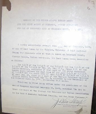 Document Railroad Given Indian Territory Land Oklahoma Muscogee Choctaw Creek