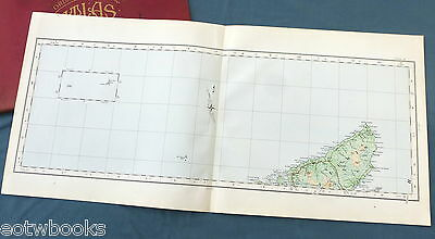 Vintage cloth O.S. MAP of SCOTLAND - NORTH LEWIS AND RONA - 1924.