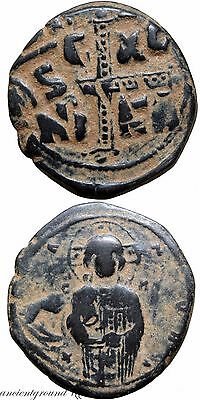 Byzantine Ae Coin Anonymos Follis Class C Attributed To Michael Iv , Sear 1825