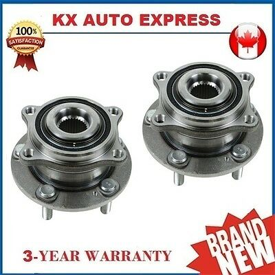 Pair of 2 New Rear Wheel Hub & Bearing Assembly Set for Left & Right Side AWD