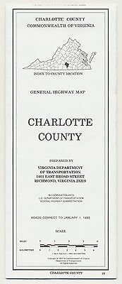 SUPERB VINTAGE 1993 CHARLOTTE COUNTY OFFICIAL HIGHWAY Road Map Petroliana RM30