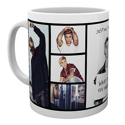Official Licensed Product Justin Bieber Ceramic Mug Grids Cup Tea Coffee Gift