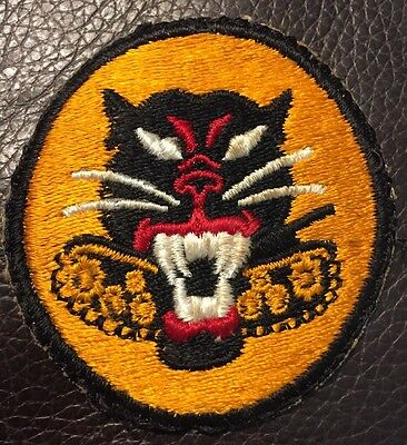 Rare Ww2 Era Us Army Tank Destroyer Force Patch 8 Wheel Variety Armored  Lion