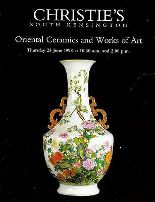 Christie's Oriental Ceramics & Artworks Auction Catalog June 1998