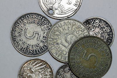 Lot of German Silver Coins Assorted Fineness 60.4 grams total weight (NUM3017)