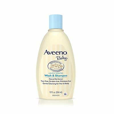 NEW Aveeno Baby Wash Shampoo 12 Oz FREE SHIPPING B66