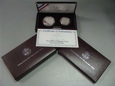1989 Congressional Proof Silver Dollar & Half Commemorative Coin Set US Mint