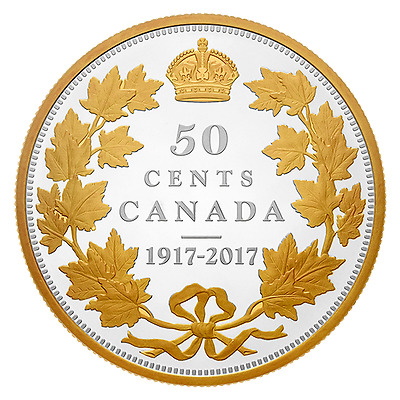 Canada 1917 2017 Half Dollar 50 Cents 2 Oz Silver Proof Coin Master's Club Excl