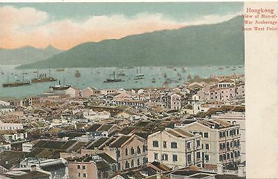 Postcard Hong Kong Harbour view from west point pictorial postcard co  32