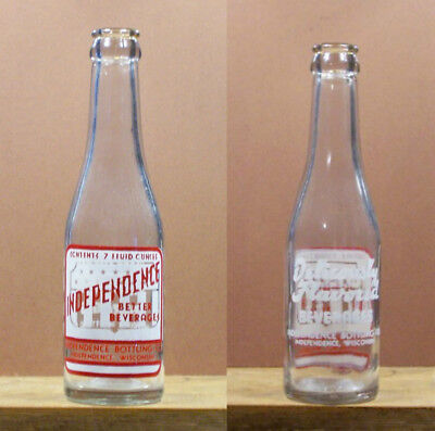 Independence Better Beverage ACL 7 oz Soda Pop Bottle Independence Wisconsin 710
