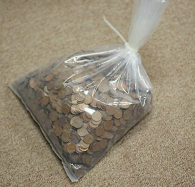1930's Lincoln Wheat Penny Cent Bag 5000 Circulated 1c Coins