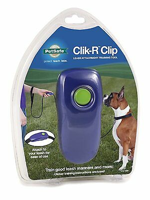PetSafe CLIK-R CLIP Dog Training Clicker Leash Attachment - Pet Clicker Training