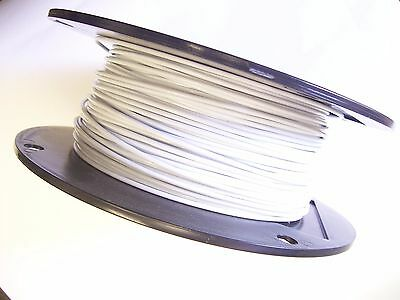 WHITE Vinyl Coated Wire Rope Cable,1/16 - 3/32, 7x7, 250 ft Reel
